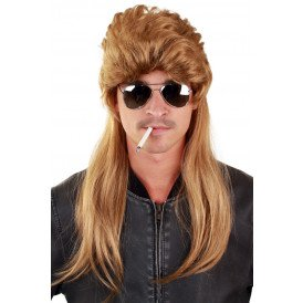 Pruik Bounty Hunter blond lang haar