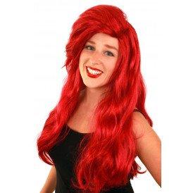 Pruik Arielle rood lang haar