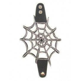 Armband skai strass spinnenweb