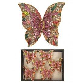Ring vlinder met strass