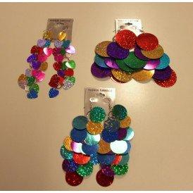 Oorbellen schijfjes groot metallic kleuren