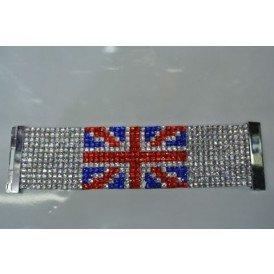 Armband UK steentjes 19x5 cm