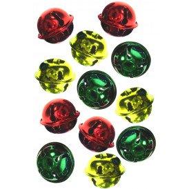 Belletjes rood-geel-groen 25 mm