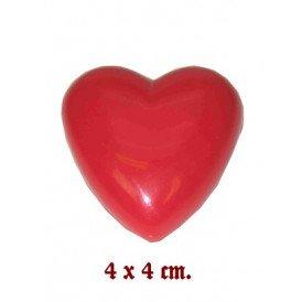 Hart broche rood + knipperlicht 4x4 cm