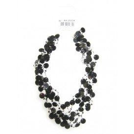 Pailetten halsketting zwart