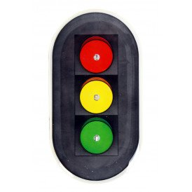 Broche lightpin Verkeerslicht rood/geel/groen