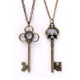Ketting sleutels brons 2 assorti