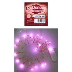 Ledverlichting snoer pink 2 meter