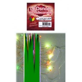 Ledverlichting snoer rood/geel/groen 2 meter