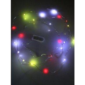 Ledverlichting snoer rood/wit/geel 20 lamps