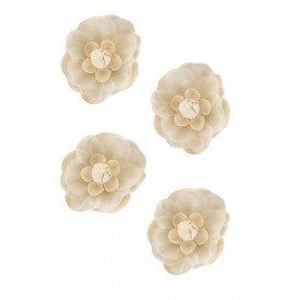 Decoratie bloemen grauw wit