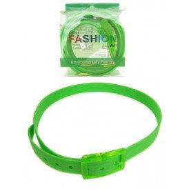 Disco riem fluor groen 130 cm