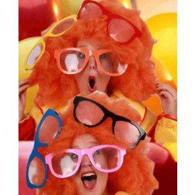 Maxi bril met transparant glas assortie kleuren