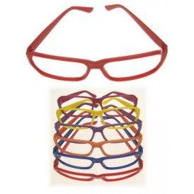 Bril half rond assortie kleuren zonder glazen