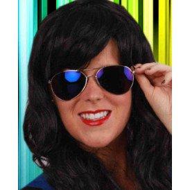 Pilotenbril (kind) spiegelglas blauw