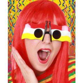 Vlagbril rood/wit/geel