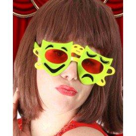 Bril lach / traan rood/geel/groen