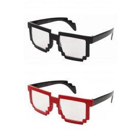 Pixel bril 2 assorti zwart/rood
