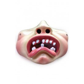 Halfmasker bolle wangen met tandjes treurig