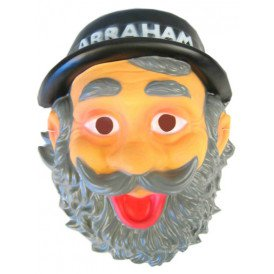 Masker plastic abraham + hoed