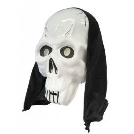 Masker skelet met hoofddoek