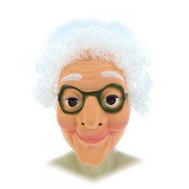 Masker sarah plastic met wit haar