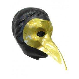 Snavelmasker plastic venetie goud