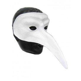 Snavelmasker plastic venetie wit