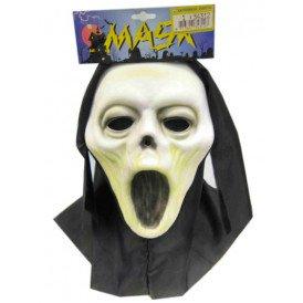 Vynil masker scream + doek (Halloween)