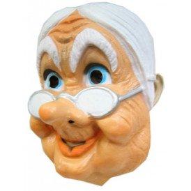 Masker oudje met bril plastic