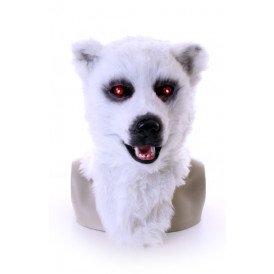Volkop masker witte beer met lichtgevende ogen en bewegende mond