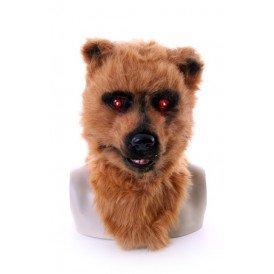 Volkop masker bruine beer met lichtgevende ogen en bewegende mond