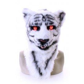 Volkop masker tijger wit lichtgevende ogen, bewegende mond