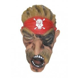 Masker piraat met snor foam