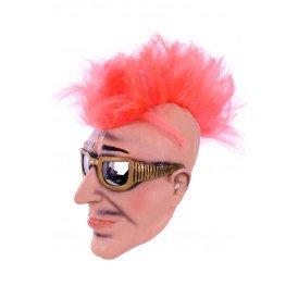 Masker man met zonnebril en hanekam