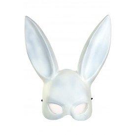 Half masker wit konijn