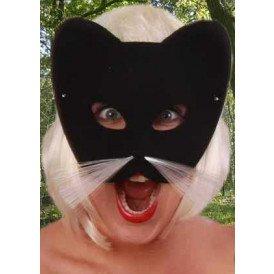 Oog halfmasker kat zwart