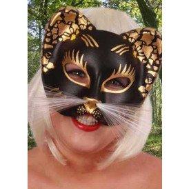 Oog half masker kat glitter
