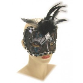 Oogmasker roma zilver luxe