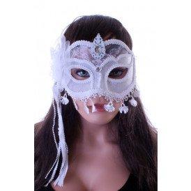 Wit oogmasker met kant LUXE