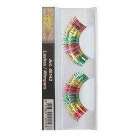 Wimpers rood/geel/groen metallic