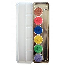 Superstar Face & Bodypaint palet Shimmer Aqua 6 kleuren