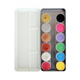 Superstar Face & Bodypaint  palet Shimmer & Pastel Aqua 12 kleuren (12x5gr)