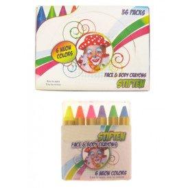 PXP kleurkrijtjes EN-71 6 x 8 gram neon colours in doos