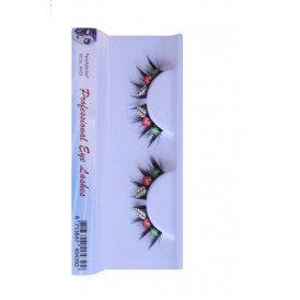 Wimpers zwart bloem-aardbei-blad