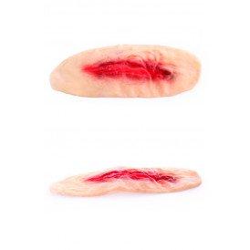Litteken wond met bloed