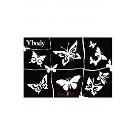 A5 stencil Butterflies Y body