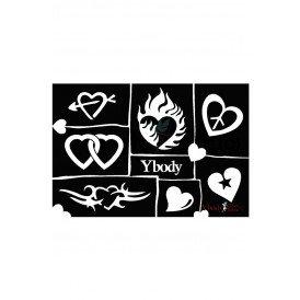 Stencil Hearts Y body