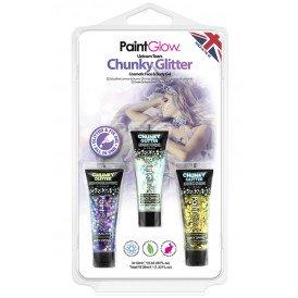 Blister set chunky glitter face & body gel Unicorn Tears