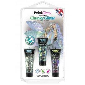 Blister set chunky glitter face & body gel Mermaid Mist